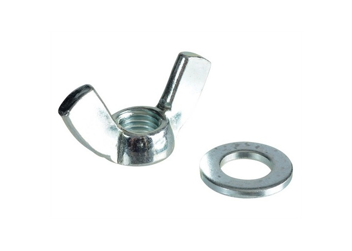 Forge FPWING12 Wing Nut & Washers ZP M12 Forge Pack of 4 - 1
