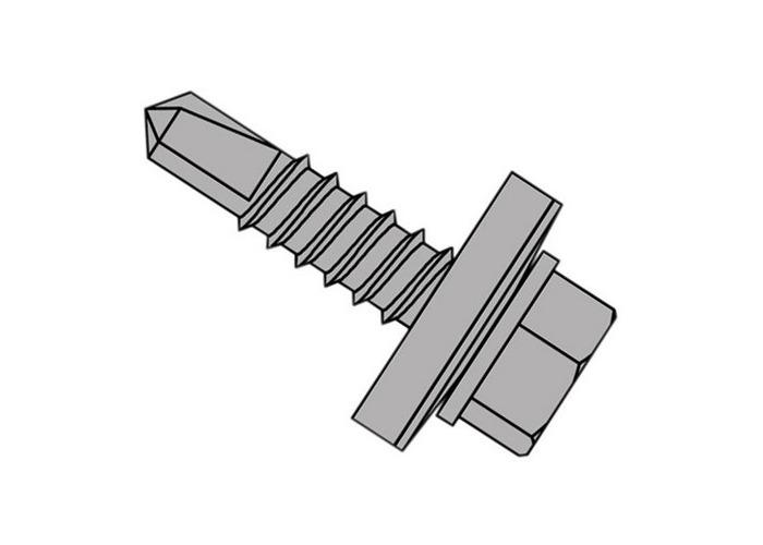 Forgefix TFHW16SD6322 TechFast Self-Drilling Stitching Hex Screw & Washer No.1 Tip 6.3 x 22mm Box 100 - 1