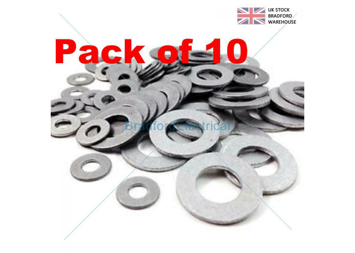 FORM A FLAT M3 (3.2) STAINLESS STEEL METRIC WASHERS (Pack of 10) - 1