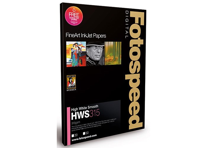 Fotospeed High White Smooth 315 Paper - A2 - 25pk - 1