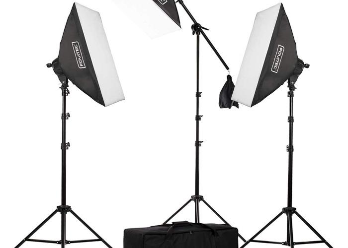 "Fovitec 2500W 20""x 28"" Softbox Photo & Video Studio Lighting - 1"