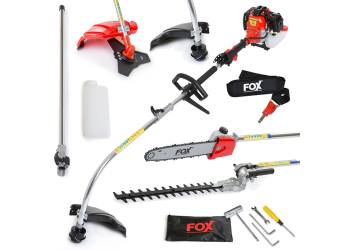 Fox Commander 52cc 6in1 Petrol Trimmer with Oregon Chain - 1