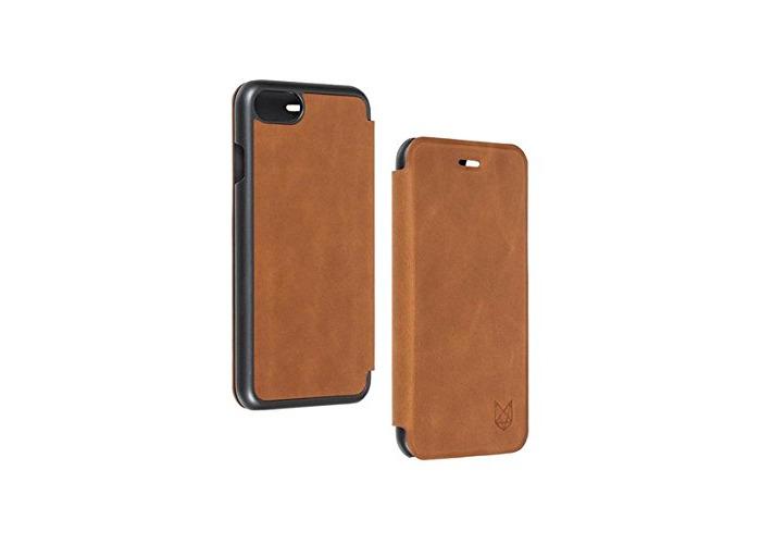 Foxwood Genuine Leather Slim Folio Case For iPhone 7 in Tan FWIP7SFTN - 1