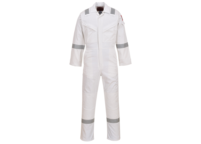 FR & Antistatic Coverall  White  XXL  R - 1