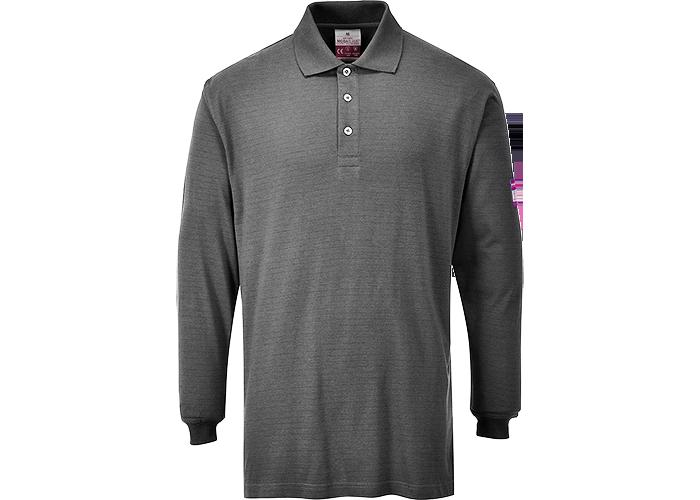 FR Antistatic Polo Shirt  Grey  XXL  R - 1