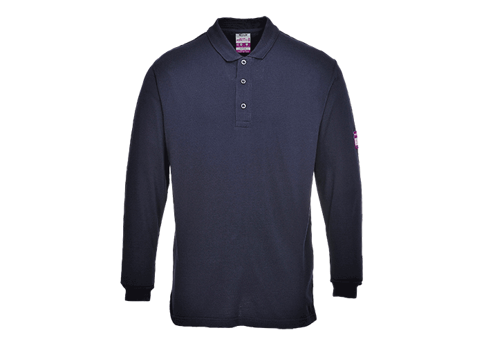 FR Antistatic Polo Shirt  Navy  Small  R - 1