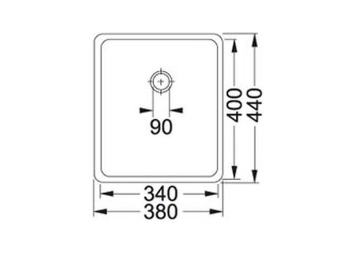 Franke Kubus KBX110-34 Stainless Steel 1.0 Bowl Undermount Sink | 122.0036.607 - 2