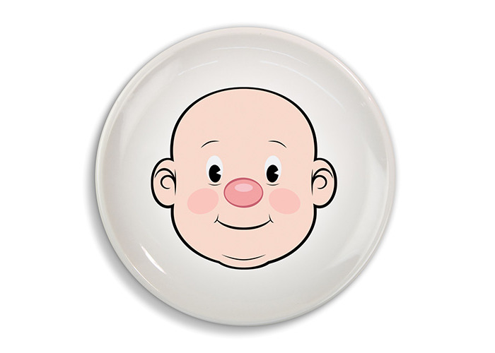 Fred FOOD FACE Dinner Plate - 1