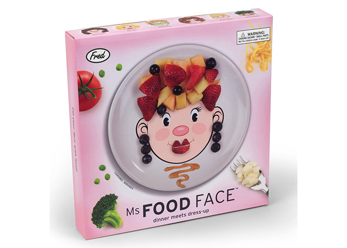 Fred MS FOOD FACE Dinner Plate - 2