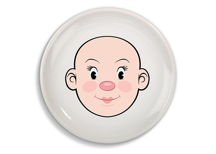 Fred MS FOOD FACE Dinner Plate - 1