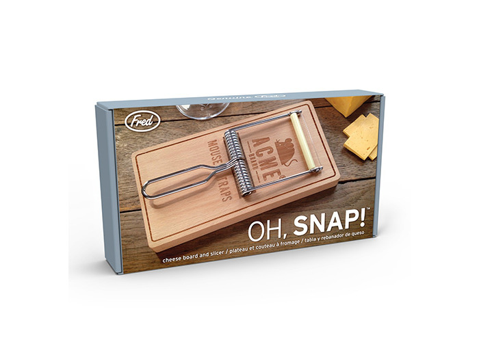 """Fred """"OH, SNAP!"""" Cheese Board, Wood, Brown, 2-Piece - 2"""