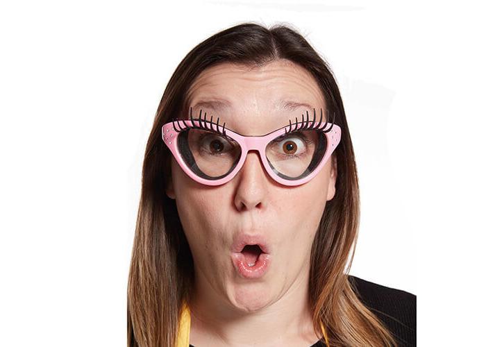 Fred Pink Kitchen Diva Eyelash Onion Glasses - 2