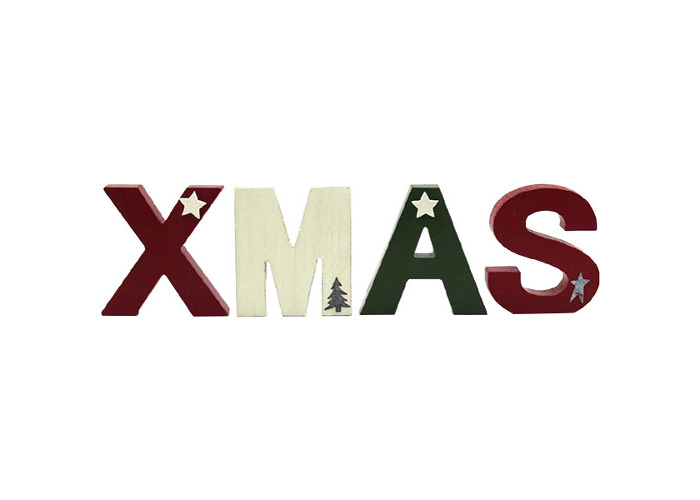 """Freestanding """"XMAS"""" Letters Sign - 1"""