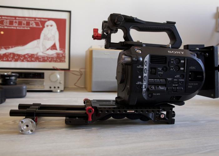 FS7 kit incl. Zacuto rig, shape arm, topmic + lens - 1
