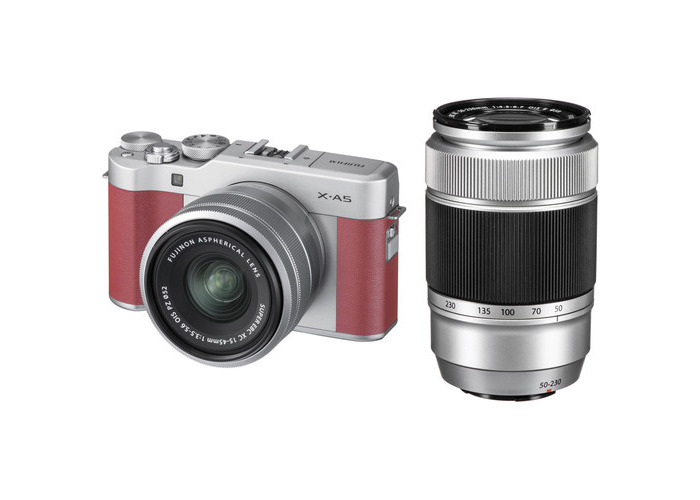 FUJIFILM X-A5 Mirrorless Camera with 15-45mm and 50-230mm Lens Kit (Pink) - 1