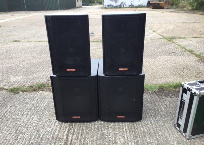 FREEBIES & Full FBT Kempton PA Sound system (two mid-top speakers & two subwoofers)  - 1