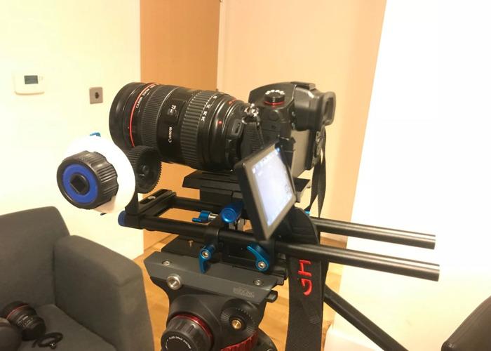 Full kit GH5s, tripod w Fluid Head, Follow Focus + lenses - 1