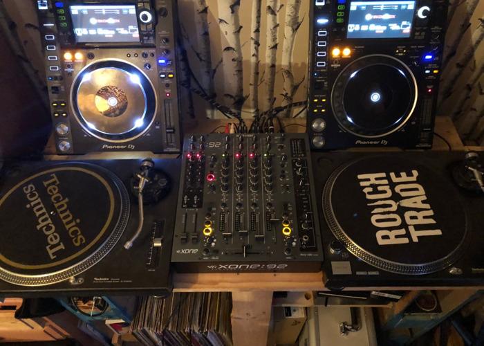 full setup pioneer cdj 2000 nxs2 allen heath xone92 technics - 1