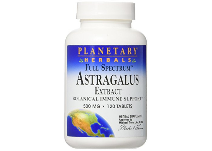 Full Spectrum Astragalus Extract, 500 mg, 120 Tablets - 1