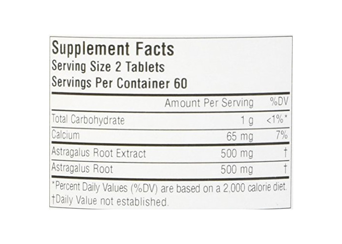 Full Spectrum Astragalus Extract, 500 mg, 120 Tablets - 2