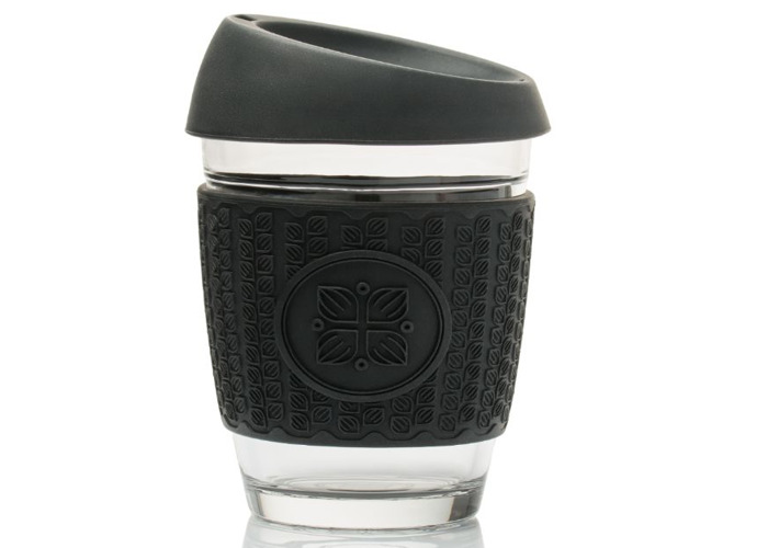 Funk My World Eco-friendly Glass Travel Coffee/Tea Cup - 1