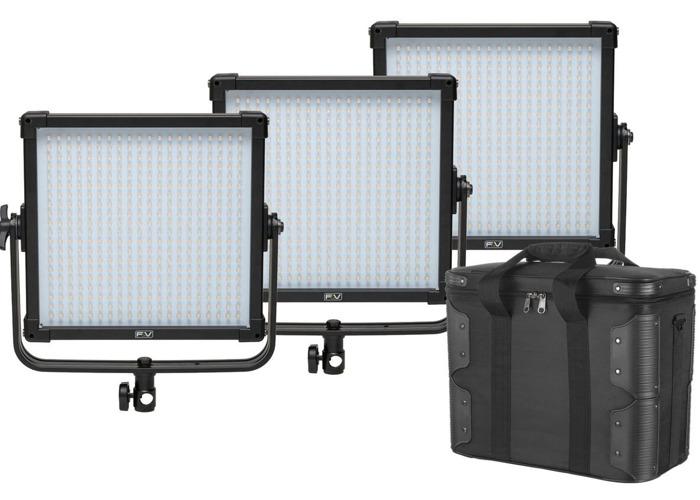 F&V K4000  Daylight LED Studio Panel Light Set of 3  - 1