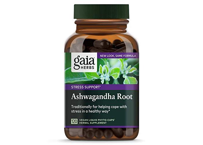 Gaia Herbs - Ashwagandha Root Liquid Phyto-Caps - 120 Vegetarian Capsules - 1