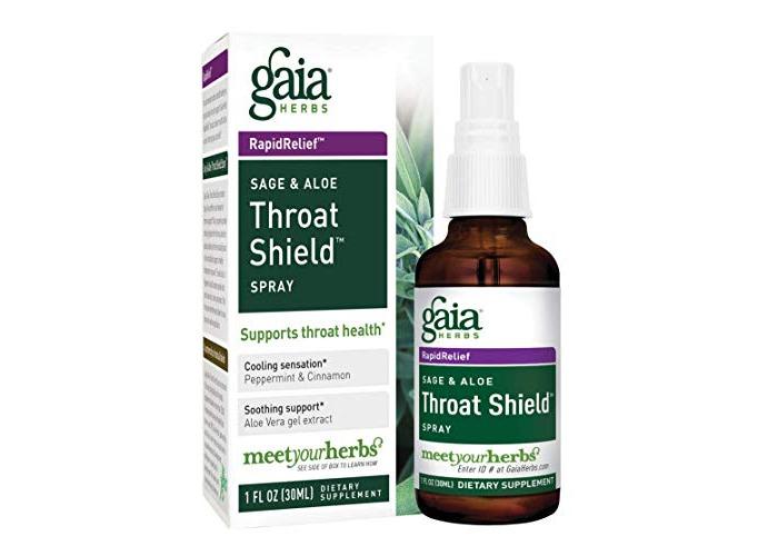 Gaia Herbs Throat Shield Sage And Aloe Spray, 30ml Bottle - 1