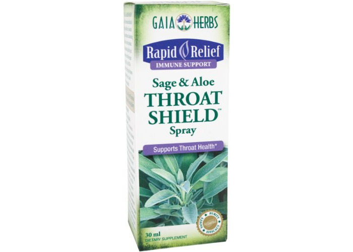 Gaia Herbs Throat Shield Sage And Aloe Spray, 30ml Bottle - 2