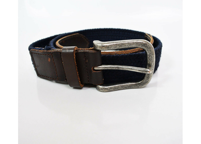 Buy GAP Mens Fabric and Leather Belt Blue and Brown Size 32