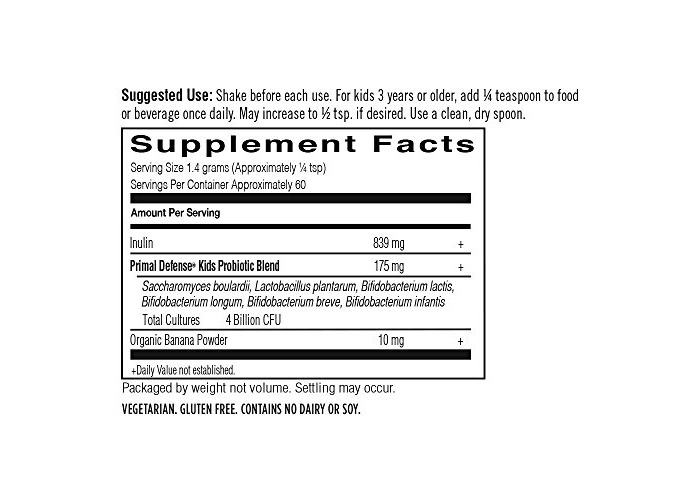 Garden of Life Primal Defense Kids Probiotic Formula (Banana Flavour, 81g), 1 Units - 2