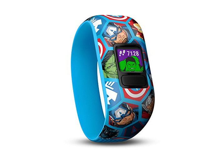 Garmin vivofit Jr. 2 - Marvel Avengers Fitness Activity Tracker for Kids - Stretchy Band - Multicolour - 1
