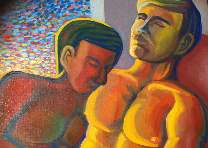 Gay Couple Painting.  - 2