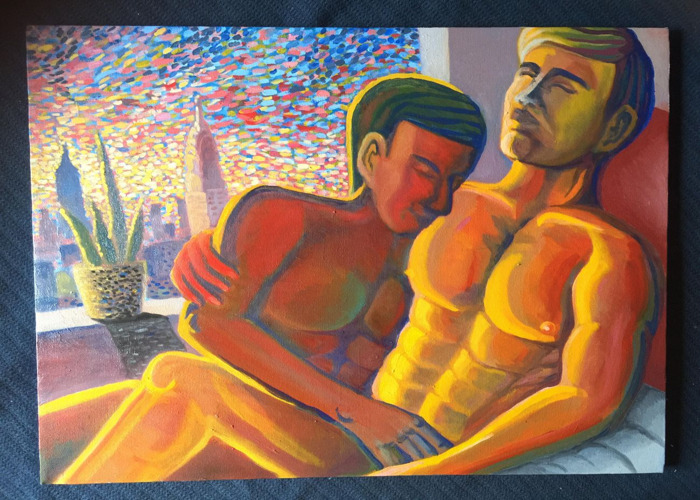 Gay Couple Painting.  - 1