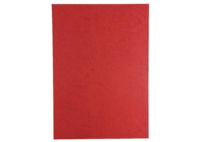 GBC - DA510130 Binding Covers with Window - Pack of 25-270gsm - Burgundy red Leatherlook - A4 - 1