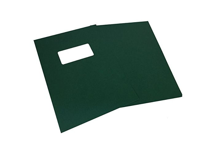 GBC A4 250 GSM Leatherboard Window Binding Covers - Pack of 25 (Green) - 1