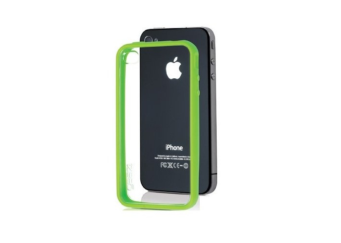 Gear4IceBox Edge Molded Protective Frame for Apple iPhone 4/4S Green - 1