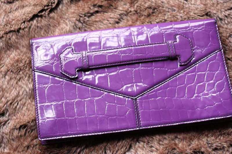 GENUINE Alexander Mcqueen Clutch Bag in purple- 100% Authentic - 2