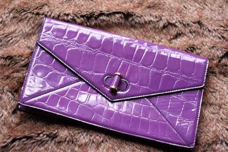 GENUINE Alexander Mcqueen Clutch Bag in purple- 100% Authentic - 1