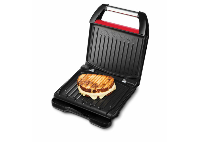 George Foreman 25030 Compact Health 3-Portion Grill - Red - 2