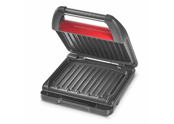George Foreman 25030 Compact Health 3-Portion Grill - Red - 1