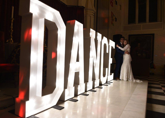 Giant 5ft Tall Letter Lights Dance 1