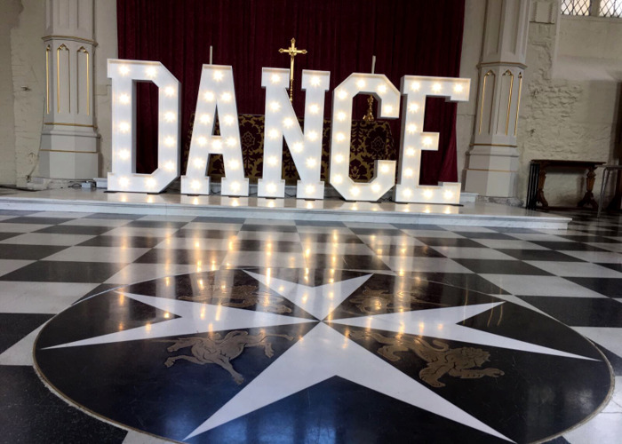 Giant 5ft Tall Letter Lights - Dance - 2