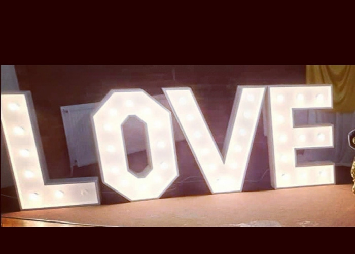 Giant light up LOVE letters  - 1