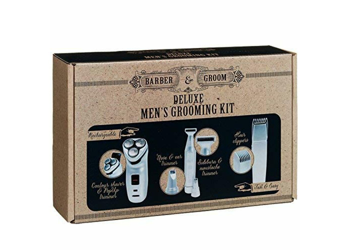 GIFT EDITION Barber & Groom Deluxe Men's Grooming Kit FOR STYLING 7 TRIMMING  - 1