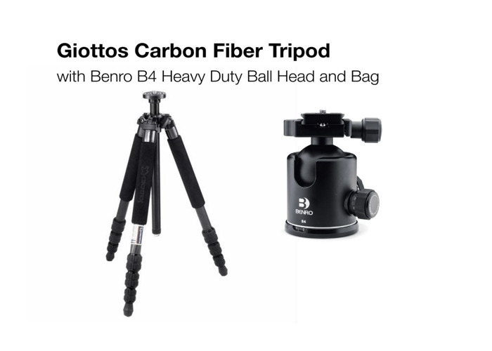 Giottos Professional Carbon Fiber Tripod with Ball Head - 1