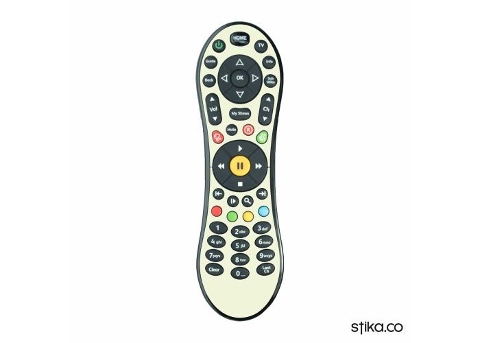 Glow in the dark Vinyl Skin Sticker for Virgin Media TiVo V6 TV remote control - 1