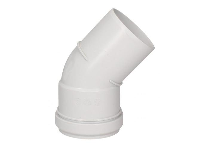 Glow-worm Plume Elbow, White (45°) - 1