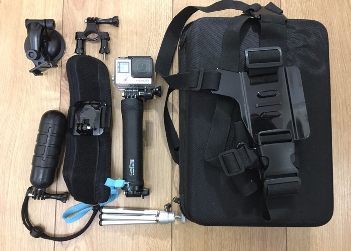 Go Pro 4 with Go Pro Pole (3 way) and Accessories  - 1