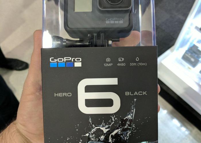 GO PRO HERO 6 BLACK WITH 3 WAY MOUNT TRIPOD AND STORAGE - 1